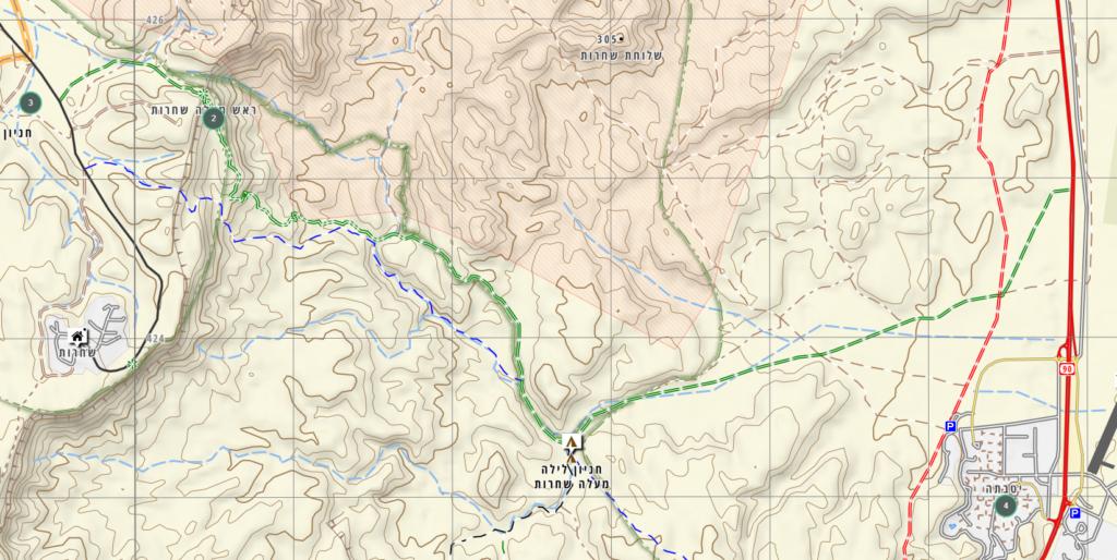 Shaharut-area-map