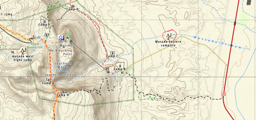 Masada map